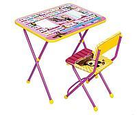 Набор мебели Ника Маша и Медведь стол +мягкий моющийся стул Азбука 3 арт