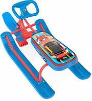 Снегокат детский Тимка Спорт 2 ТС2 SC2 (Nika Kids SportCar, красный каркас)