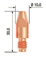 Контактный наконечник M8х30 мм ECU D=1.0 мм  (25 шт.)