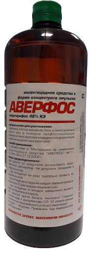 Средство от насекомых Аверфос 1л (хлорпирифос 48%)