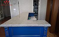 Столешница акриловый камень серая под мрамор