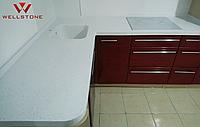 Столешница акриловый камень белая на кухню