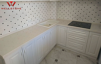 Столешница акриловый камень бежевая на кухню