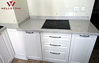 Столешница акриловый камень серая на кухню под гранит