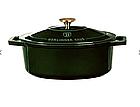 Чугунная кастрюля с крышкой с эмалированным покрытием Berlinger Haus Emerald Collection, фото 3