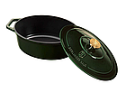 Чугунная кастрюля с крышкой с эмалированным покрытием Berlinger Haus Emerald Collection, фото 4
