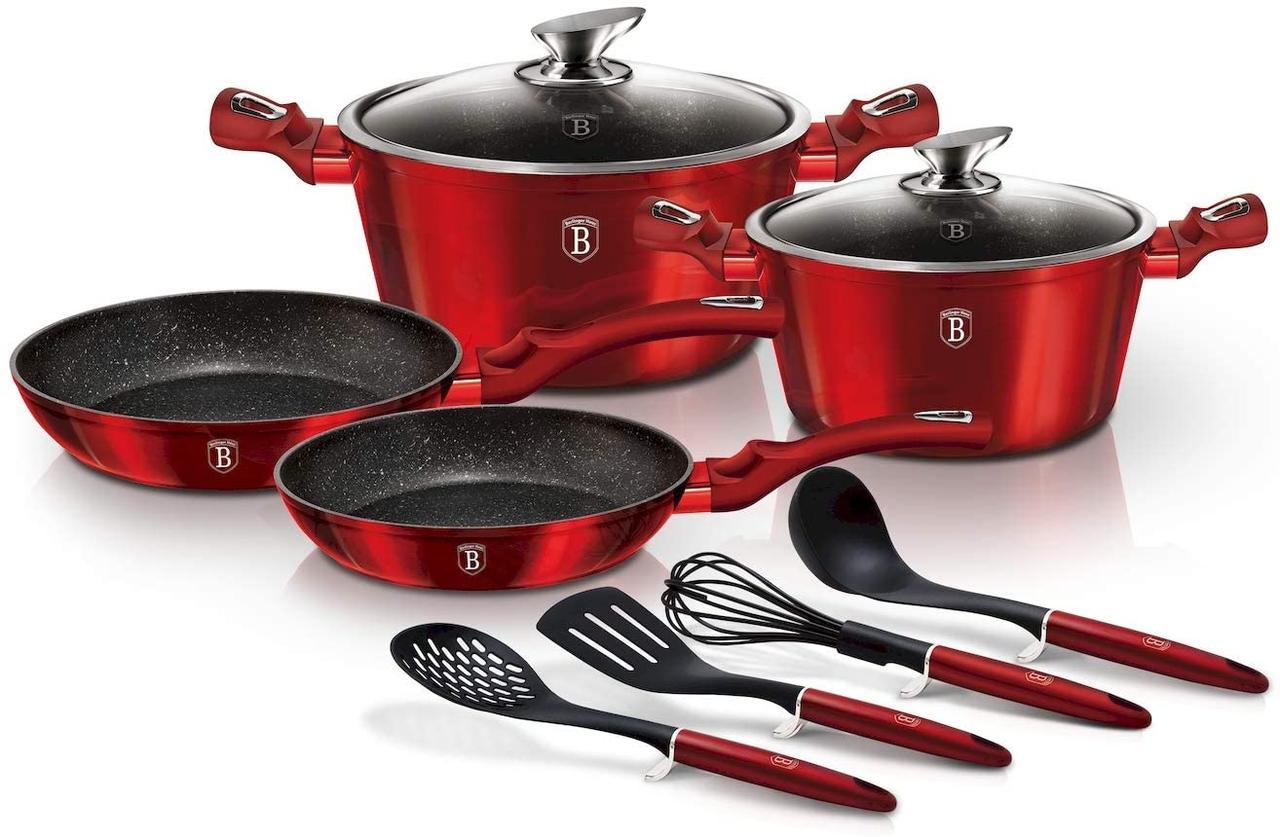 Набор посуды Berlinger Haus Metallic Line Burgundy Edition 10 предметов
