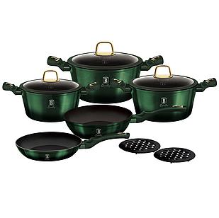 Набор посуды Berlinger Haus Metallic Line Emerald Collection 10 предметов