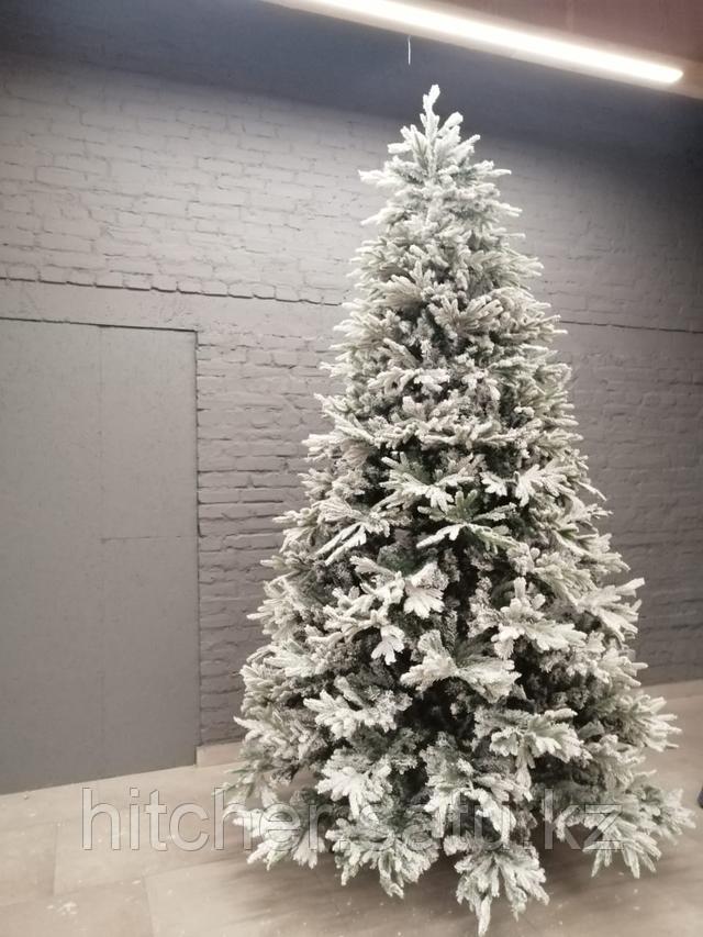"""Новогодняя ёлка """"Сибирь Голд"""" 3 метра спушистой объемной хвоейпокрытойискусственным 3D снегом"""