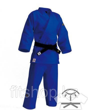 Кимоно для занятий дзюдо Mizuno с лицензией синего цвета