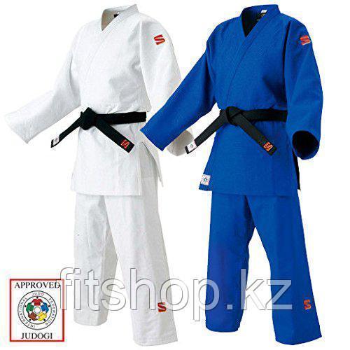 Кимоно для занятий дзюдо KuSakura с лицензией синего и белого цвета