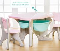Детский стол с двумя стульчиками Learning Toy розовый, фото 1
