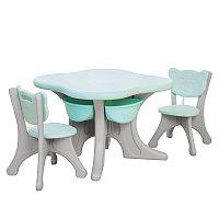 Детский стол с двумя стульчиками Learning Toy, фото 1