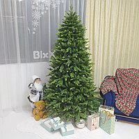 """Новогодняя елка премиум класса """"Изумрудная"""" с двухцветной литой хвоей - 240 см, фото 1"""