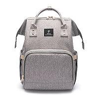 ОРИГИНАЛЬНЫЙ рюкзак POFUNUO - уникальный помощник для молодой мамы! Серый