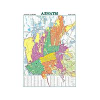 Карта города Алматы масштаб 1:3 000 000, 1000*700 мм