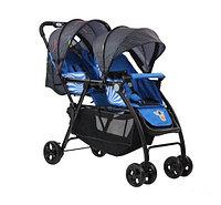 Детская коляска для погодок Паровозик 705 синий, фото 1