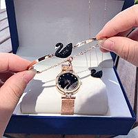 Комплект Swarovski! Часы, кулон, браслет. Подарочный набор Сваровски