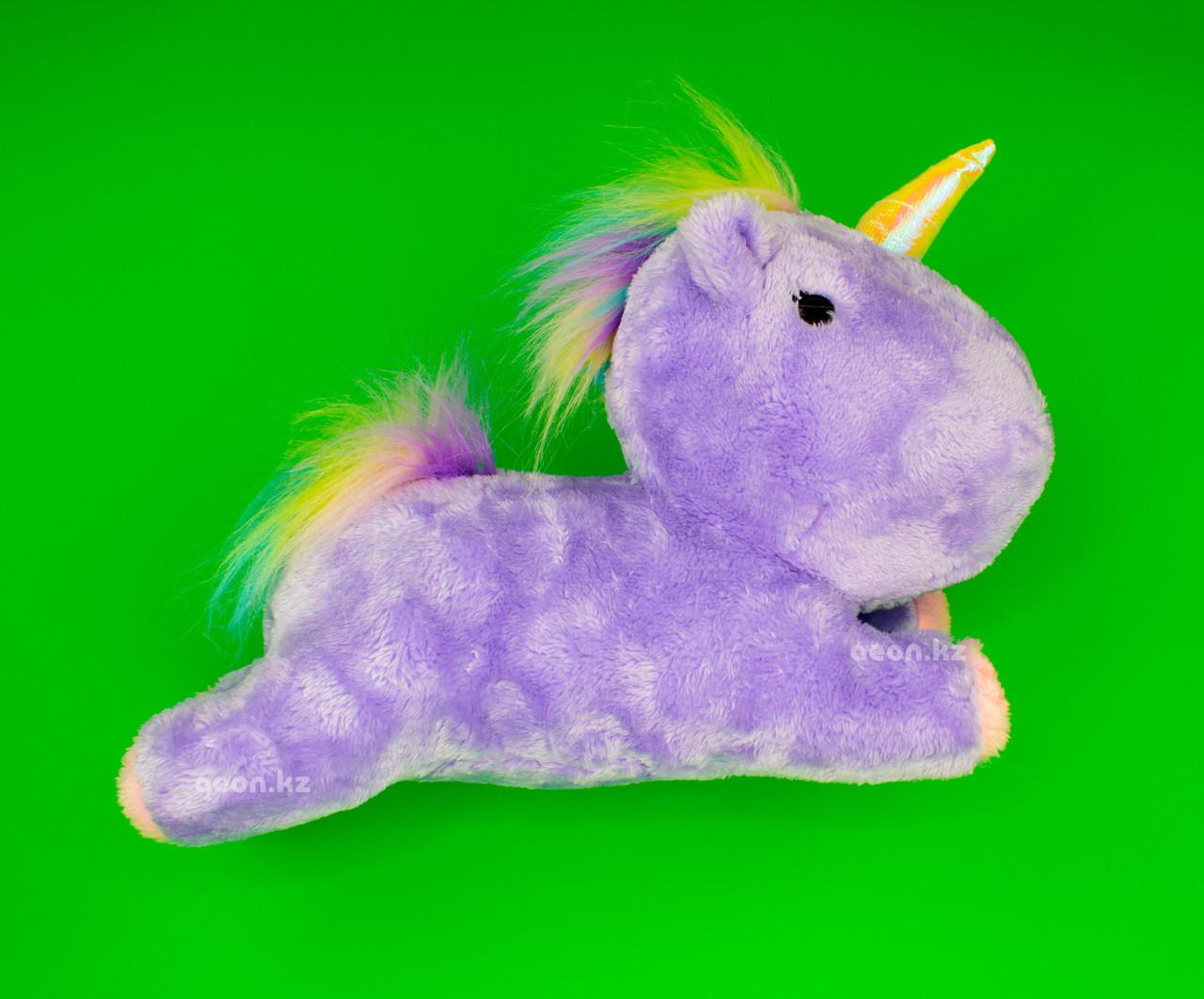 Мягкая игрушка фиолетовый Единорог лохматый