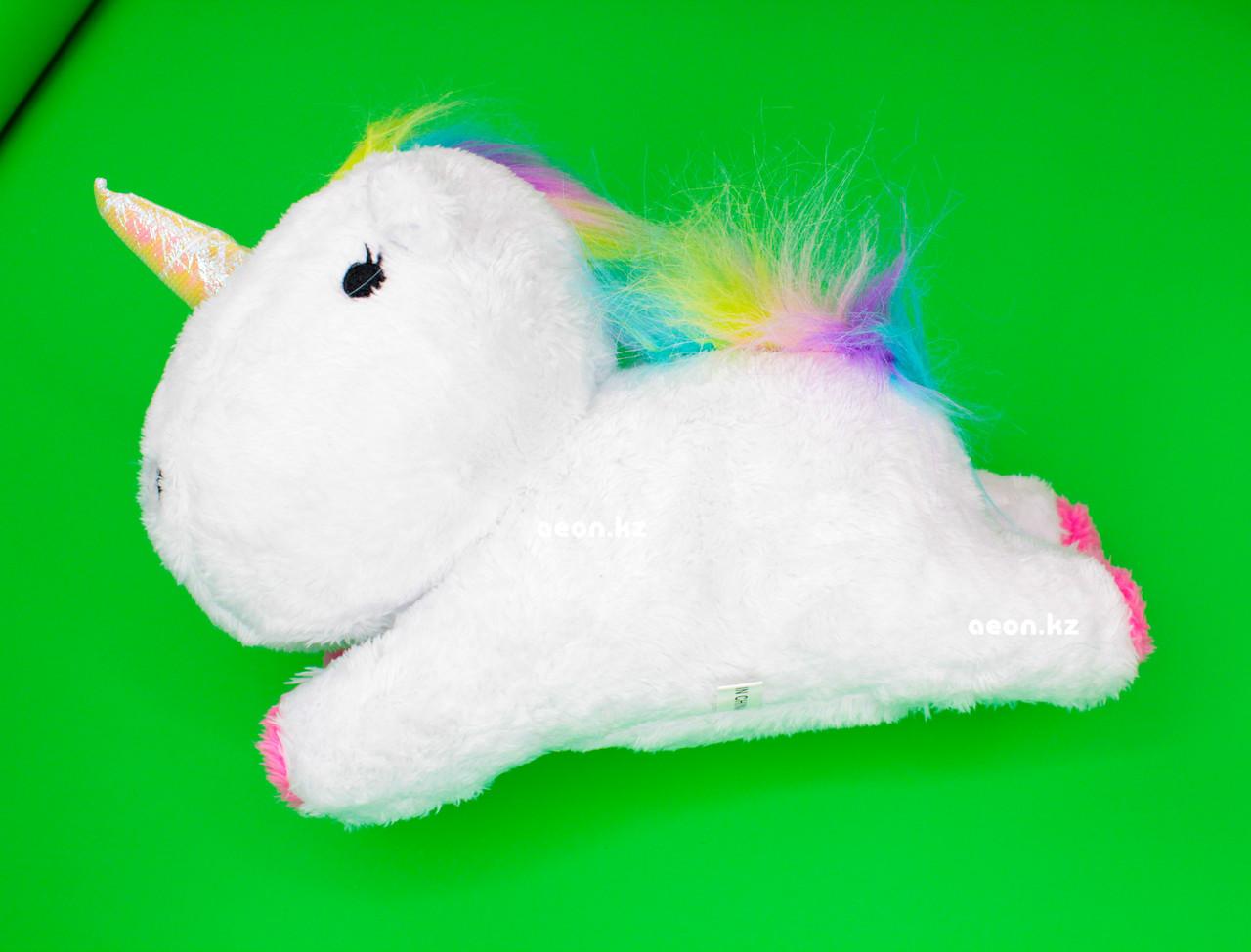 Мягкая игрушка белый Единорог лохматый