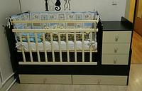 Кроватка-трансформер детская Фея 1100 Венге-клен