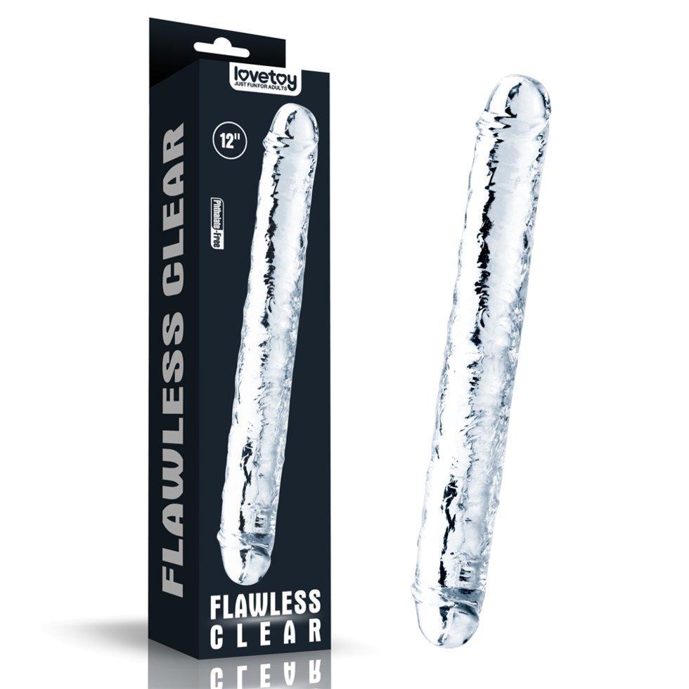 Двойной фаллоимитатор Flawless Clear (30*3,5 см)