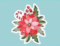 """Топпер мульт """"Новогодний цветок с кенди тросточкой и брусникой"""""""