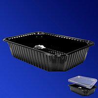 Kazakhstan Контейнер пластиковый 1000мл PP черный 18,6х13,2х6,5см