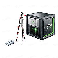 Лазерный нивелир с перекрёстными лучами Bosch Quigo Green + штатив 0603663C01
