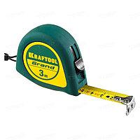 Рулетка с противоскользящим покрытием KRAFTOOL GRAND 10 м*25мм 34022-10-25