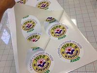 Печать стикеров наклейки,срочно, в Алматы, наклейки
