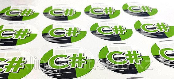 Печать стикеров,наклейки, Алматы