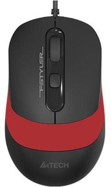 Мышь A4tech Fstyler FM10, Черный+красный