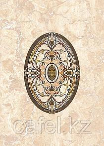 Кафель | Плитка настенная 25х35 Исабель | Isabel бежевый вставка D1