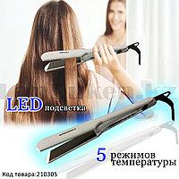 Плойка для волос выпрямитель с титановым покрытием с 5 режимами температуры и Led подсветкой Geemy GM419