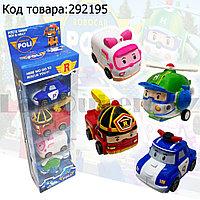 Набор машинок игровой для детей из серии Робокар Поли 4 машинки в комплекте
