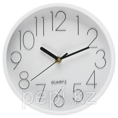Часы настенные, d-22,5см, круглые, пластик/стекло