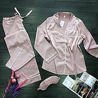 Пижама Victoria's Secret сатиновая розовая