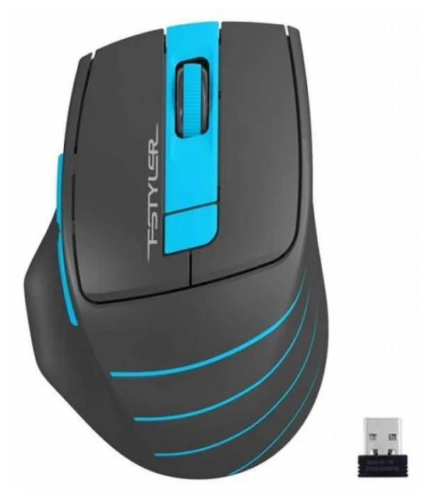 Мышь беспроводная A4tech Fstyler FG30, 2000 dpi/ Серый+голубой