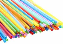 Трубочки 500/5* 24 см. (Полоса, цветные)