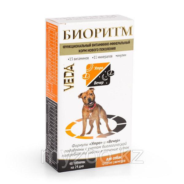 БИОРИТМ функциональный витаминно-минеральный комплекс для собак средних размеров (10-30 кг), 48 табл.