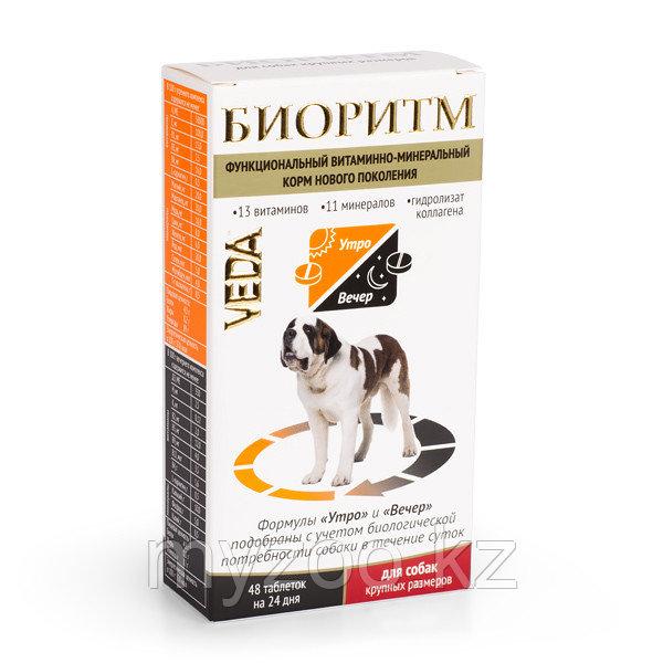 БИОРИТМ функциональный витаминно-минеральный комплекс для собак крупных размеров (более 30 кг), 48 табл.