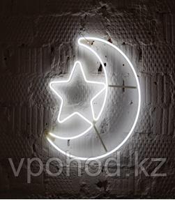 Светодиодная луна со звездой холодный цвет