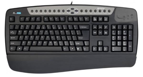 Клавиатура A4tech KBS-8 PS2, Black, 19 мультимедийных клавиш
