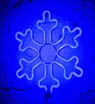 Светодиодная LED снежинка 30 см разные цвета, фото 2