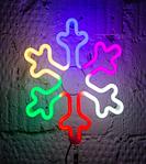 Светодиодная LED снежинка 30 см разные цвета, фото 4