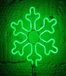 Светодиодная LED снежинка 30 см разные цвета, фото 5