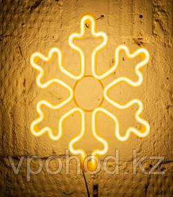 Светодиодная LED снежинка 30 см разные цвета