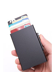 Черный Бокс для кредитных карт - кардхолдер. RFID Protected.