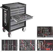 Тележка инструментальная с 7-ми выдвижными ящиками VIGOR 1000 с набором инструментов 317 предметов